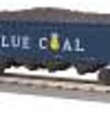 MTH - RailKing #30-75628, Anthracite Blue Coal4-Bay Hopper w/load