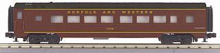 MTH - RailKing #30-68116, Norfolk & Western 60' Streamlined Coach Car