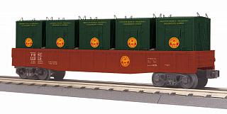 MTH - RailKing #30-72198, MTH Pennsylvania Reading Seashore Lines Gondola w/LCL Containers