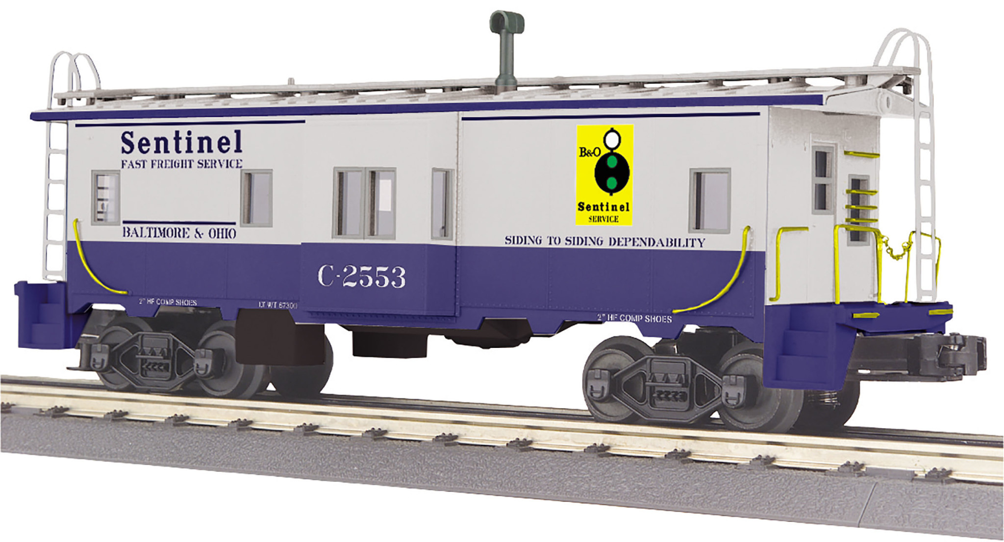 MTH - RailKing #30-77340, Baltimore & Ohio Bay Window Caboose