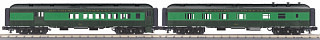 MTH - Rugged Rails #30-69325, Reading 2-Car 60' Madison Combine/Diner Set