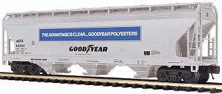 MTH - Premier #20-97900, Goodyear Tire & Rubber 3-Bay Center Flow Hopper