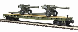 MTH - Premier 20-95347 U.S. Army Flat Car W/ Howitzers