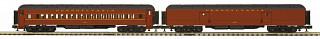 MTH - Premier #20-40080, Pennsylvania 2-Car 70' Madison Baggage/Coach Passenger Set
