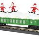 MTH - RailKing #30-72195, MTH Christmas Gondola with Skiing Santas (Green)