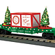 MTH - RailKing #30-76773, MTH Christmas Flatcar with Lighted Trees (Green)