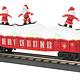 MTH - RailKing #30-72194, MTH Christmas Gondola with LED Lights and Skiing Santas(red)