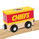 Baby Fanatic Kansas City Chiefs Engine & Box Car Set - Wooden