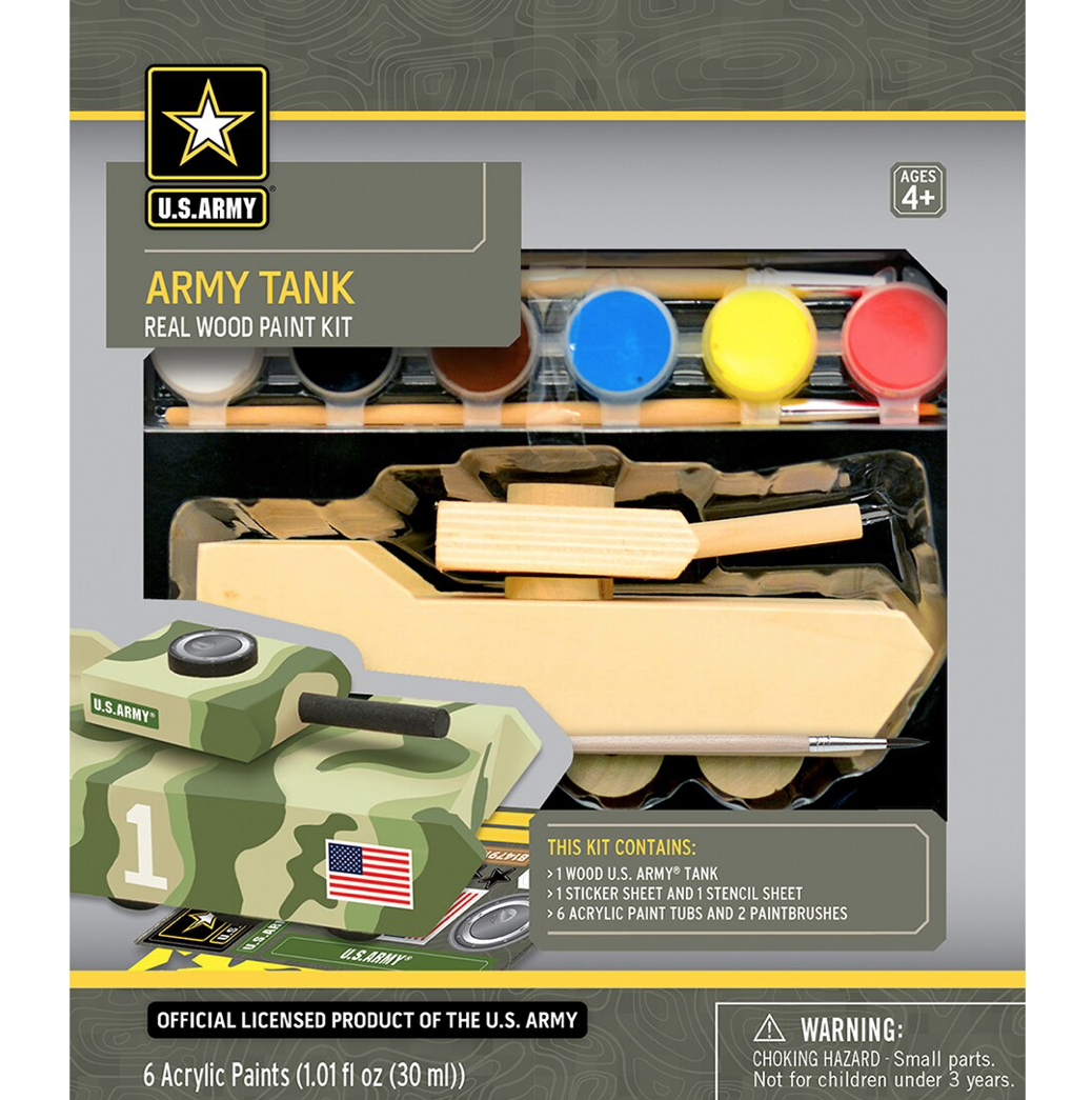 Dr Toys U.S. ARMY TANK LICENSED WOOD PAINT KIT