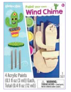 Works of Ahhh Cactus Wind Chime - Paint Your Own - Kit