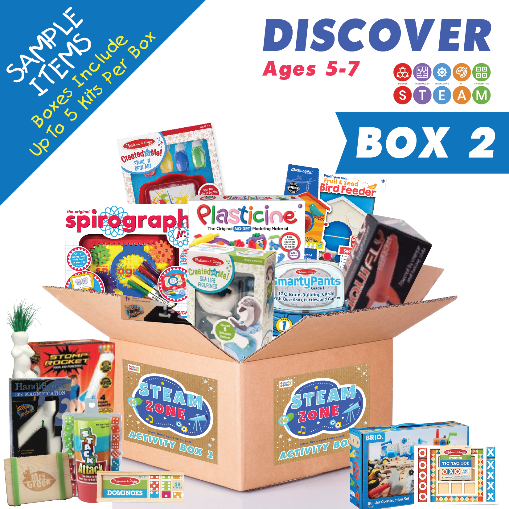 Bussinger Trains S.T.E.A.M Activity Kit Box - Two