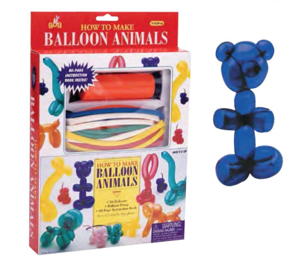 Schylling HOW TO BALLOON ANIMALS KIT