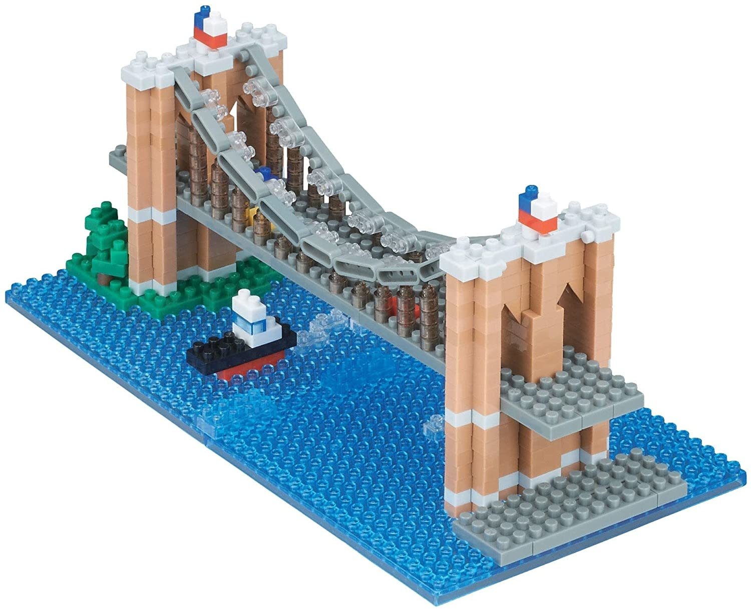NANO BLOCK Brooklyn Bridge Building Set - NANO BLOCKS