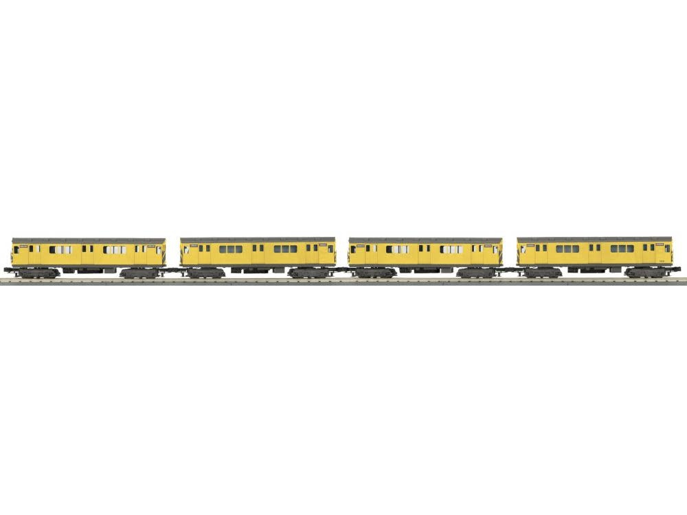 MTH - RailKing #30-2728-1 MTH 4-Car R-12 Subway Set, Metropolitan Transportation (Yellow)
