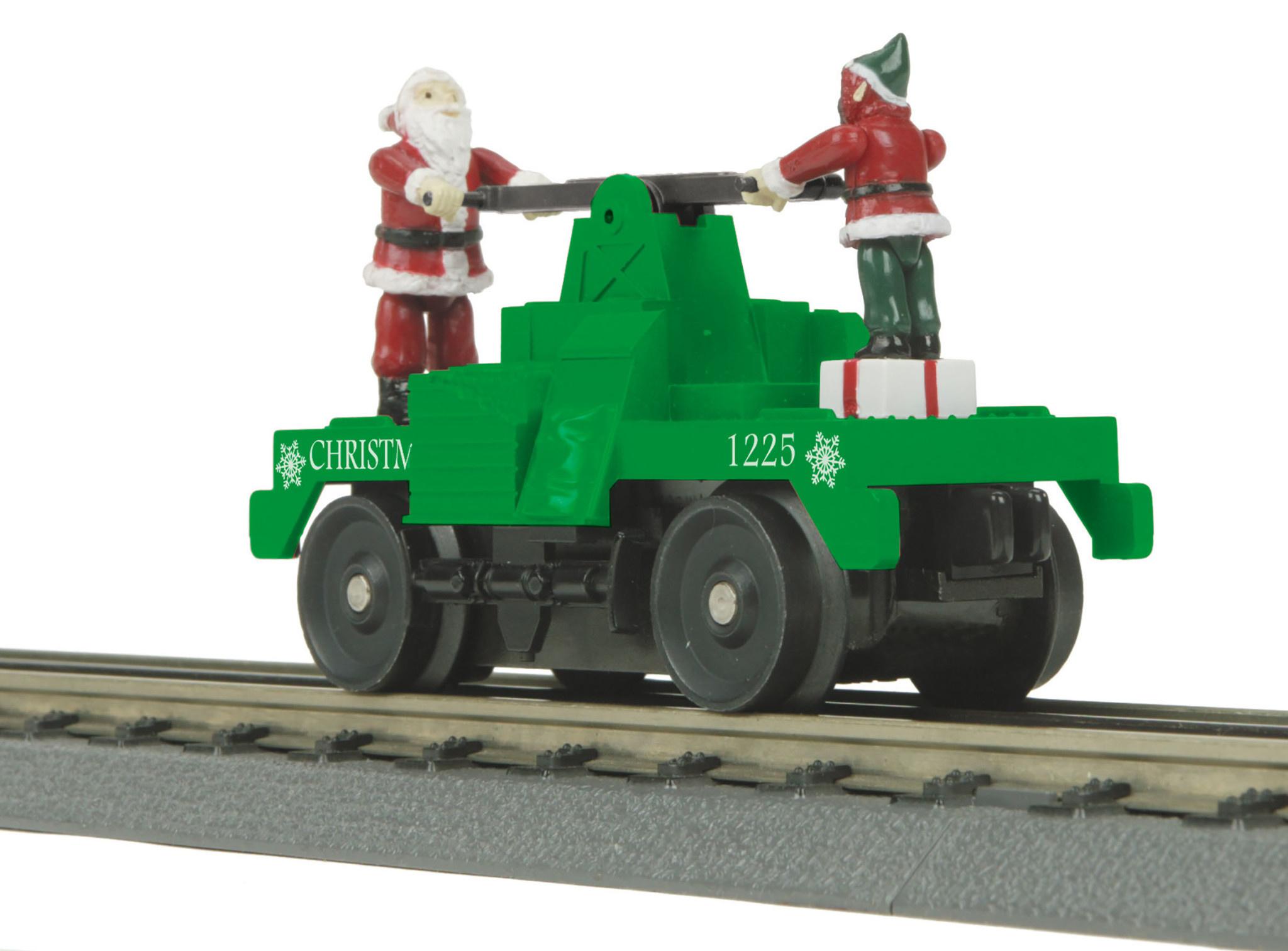 MTH - RailKing #30-5183, MTH O Christmas Operating Hand Car