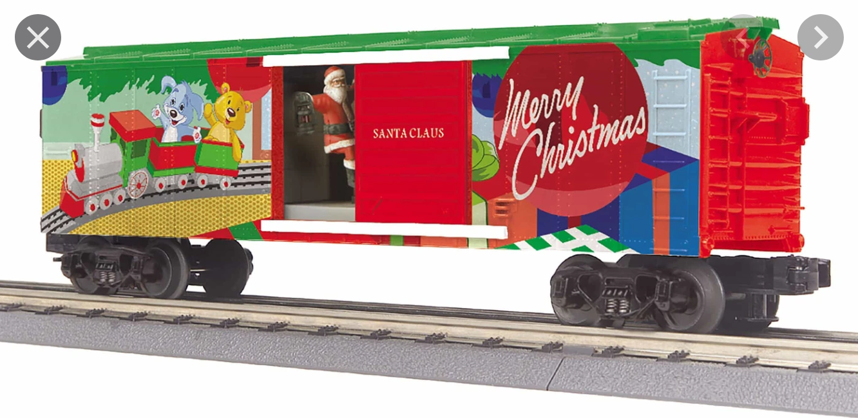 MTH - RailKing #30-79642, Christmas Operating Boxcar w/Santa
