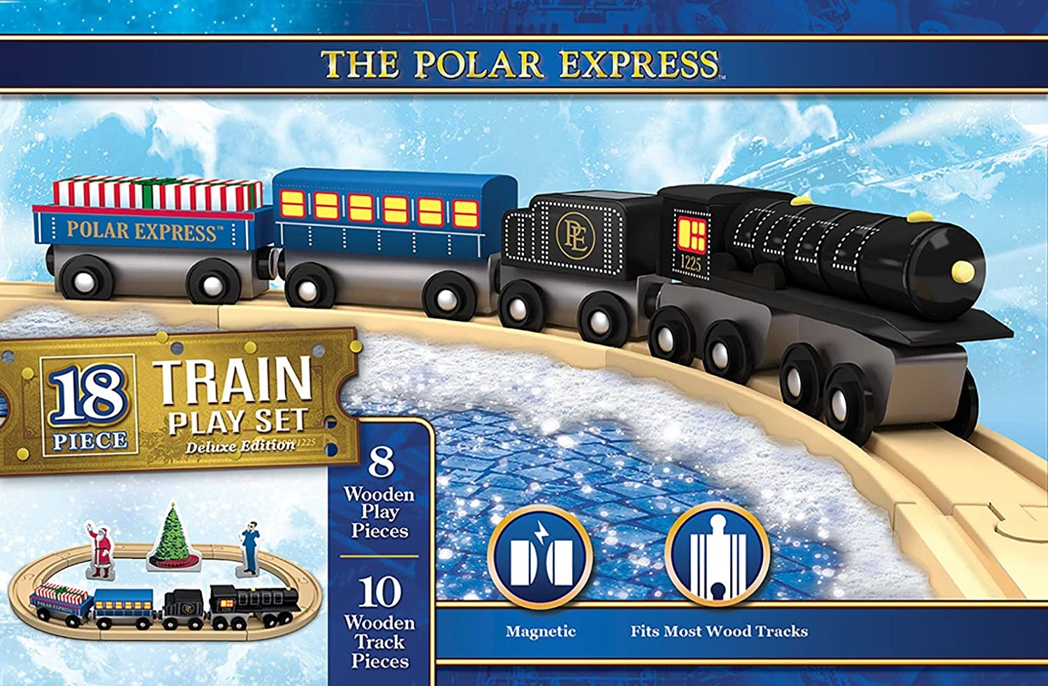 Masterpiece The Polar Express - Wooden Train Set - Deluxe