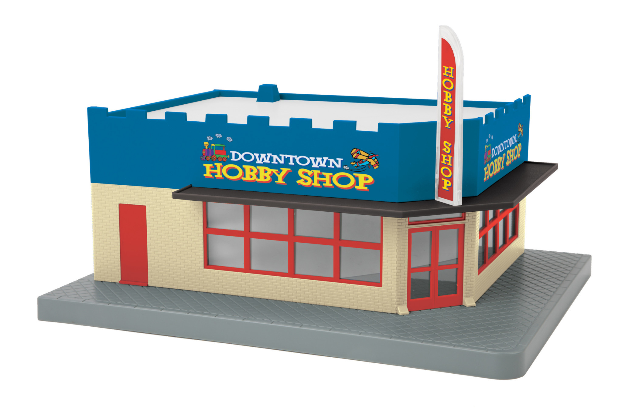 MTH - RailKing Downtown Hobby Shop Corner Store