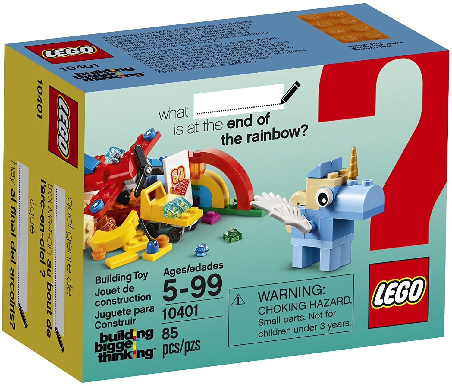 LEGO Classic LEGO Classic Classic Rainbow Fun 10401 Building Kit  Roll over image to zoom in LEGO Classic Classic Rainbow Fun - Building Kit