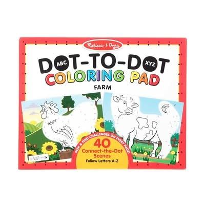 ABC Dot-to-Dot Coloring Pad - Farm