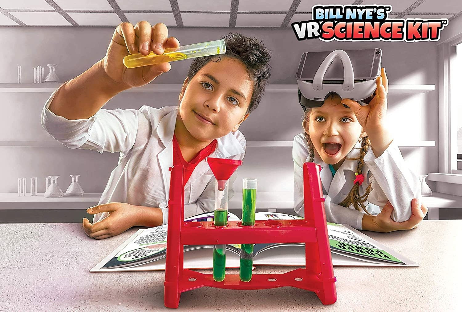 Abacus Bill Nye's VR Science Kit Virtual Reality Kids Science Kit, Book and Interactive Learning Activity Set