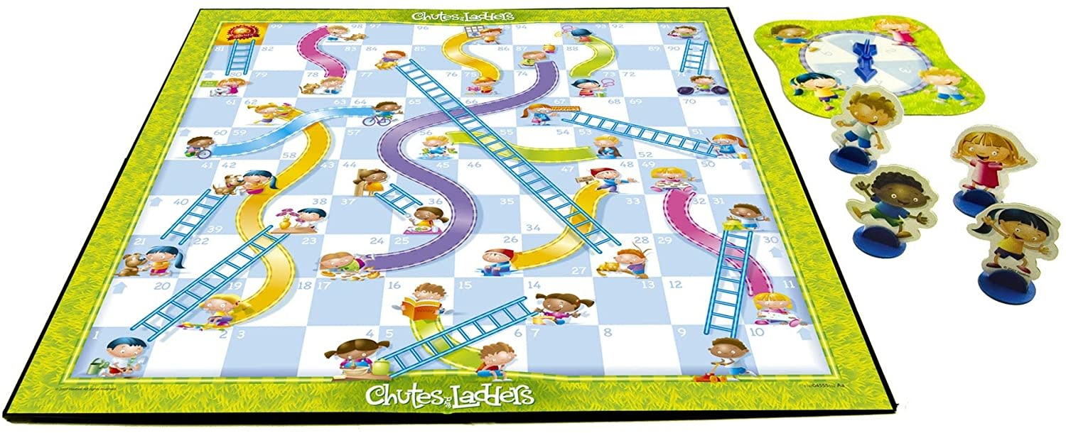 Milton Bradley Chutes and Ladders Board Game