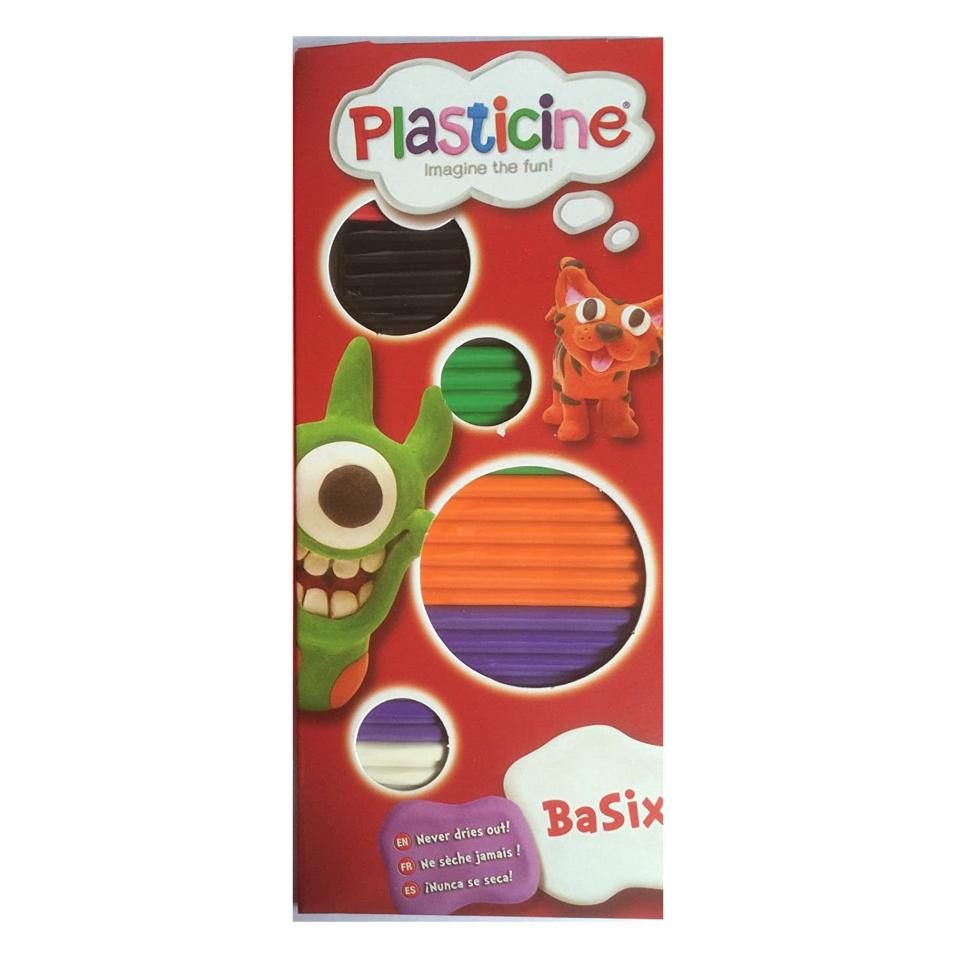 Plasticine Plasticine Basix Set of 6 Colors Strip Pack - #B
