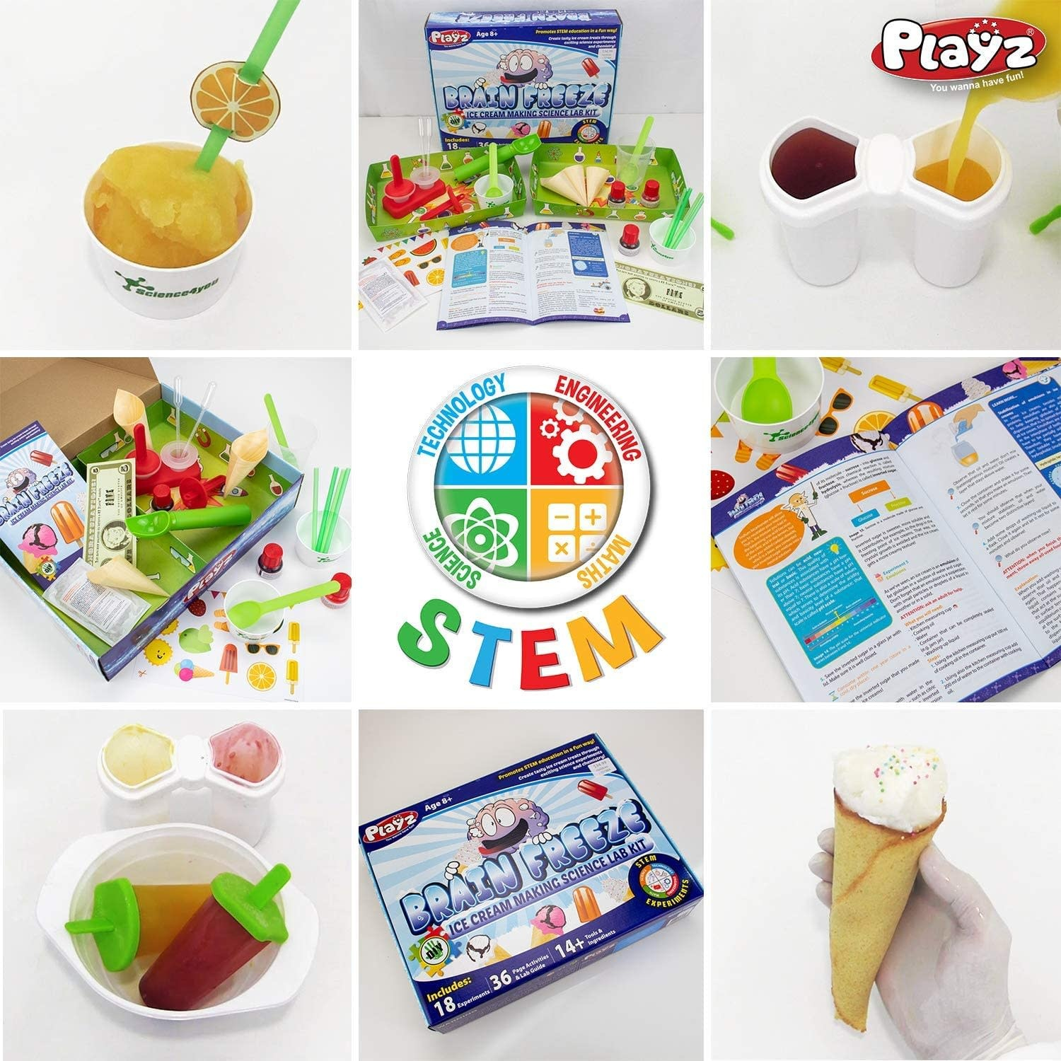 Playz Brain Freeze Ice Cream Making Science Kit