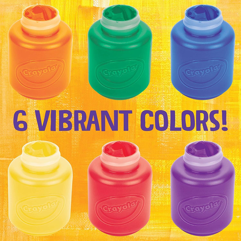Crayola Crayola Washable Kids Paint, 6 Color