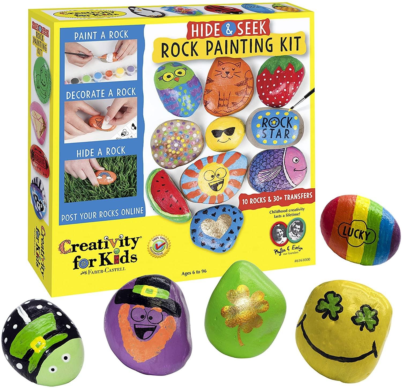 Creativity For Kids Rock Painting Kit - Hide and Seek Rocks