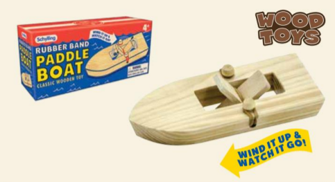 Schylling Paddle Boat - Rubber Band