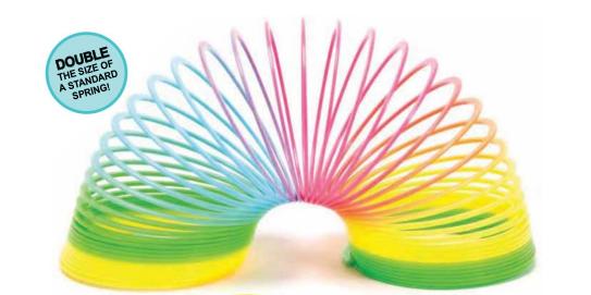 Schylling Jumbo Rainbow Spring - Slinky