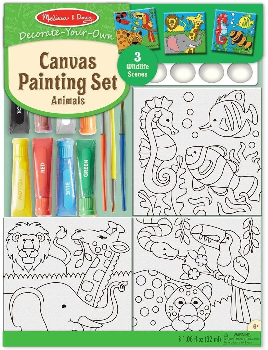 Melissa & Doug Canvas Painting Set - Animals