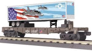 MTH - RailKing O US Air Force Flatcar w/40' Trailer - 30-76781