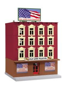 MTH - RailKing O Old Line Flag Co. 4-Story Building