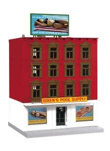 MTH - RailKing O Siren's Pool Supply 4-Story Building - 3090607