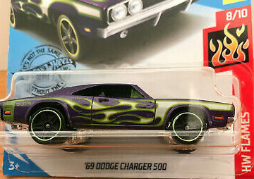 Hot Wheels 189/250  '69 Dodge Charger 500
