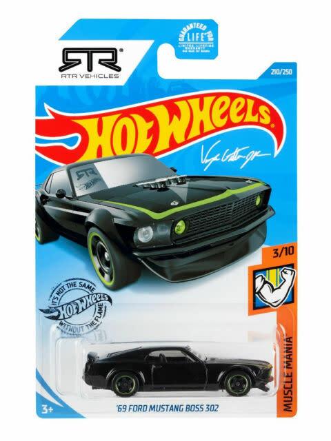 Hot Wheels 210/250  '69 Ford Mustang Boss 302