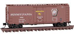 """Micro Trains Line #02100610, Micro Trains Line PRR 40"""" Standard Box Car, N Scale"""