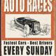 """Desperate Enterprises Vintage Auto Races - Tin 16""""Wx12.5""""H"""