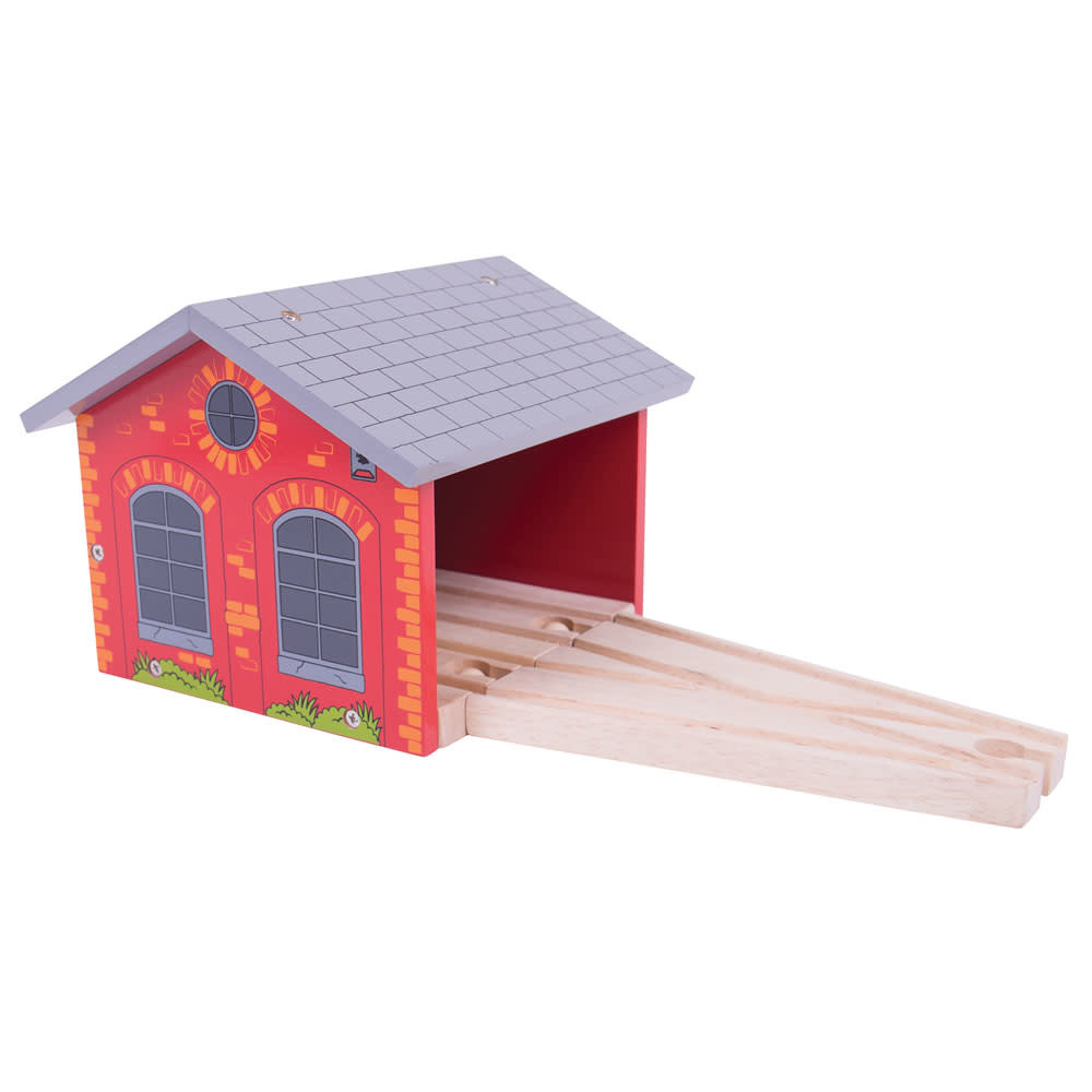Big Jig Toys Double Engine Shed