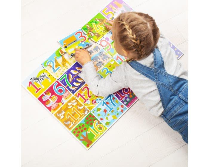 Big Jig Toys BJ559, 1-20 Floor Puzzle