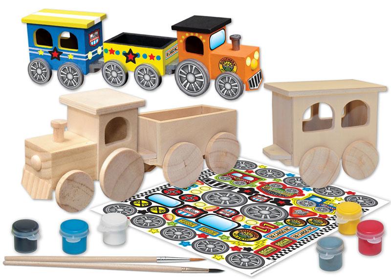 Masterpiece Classic Wood Paint Kit - Toy Train