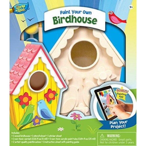 Masterpiece Buildable Wood Paint Kit - Birdhouse