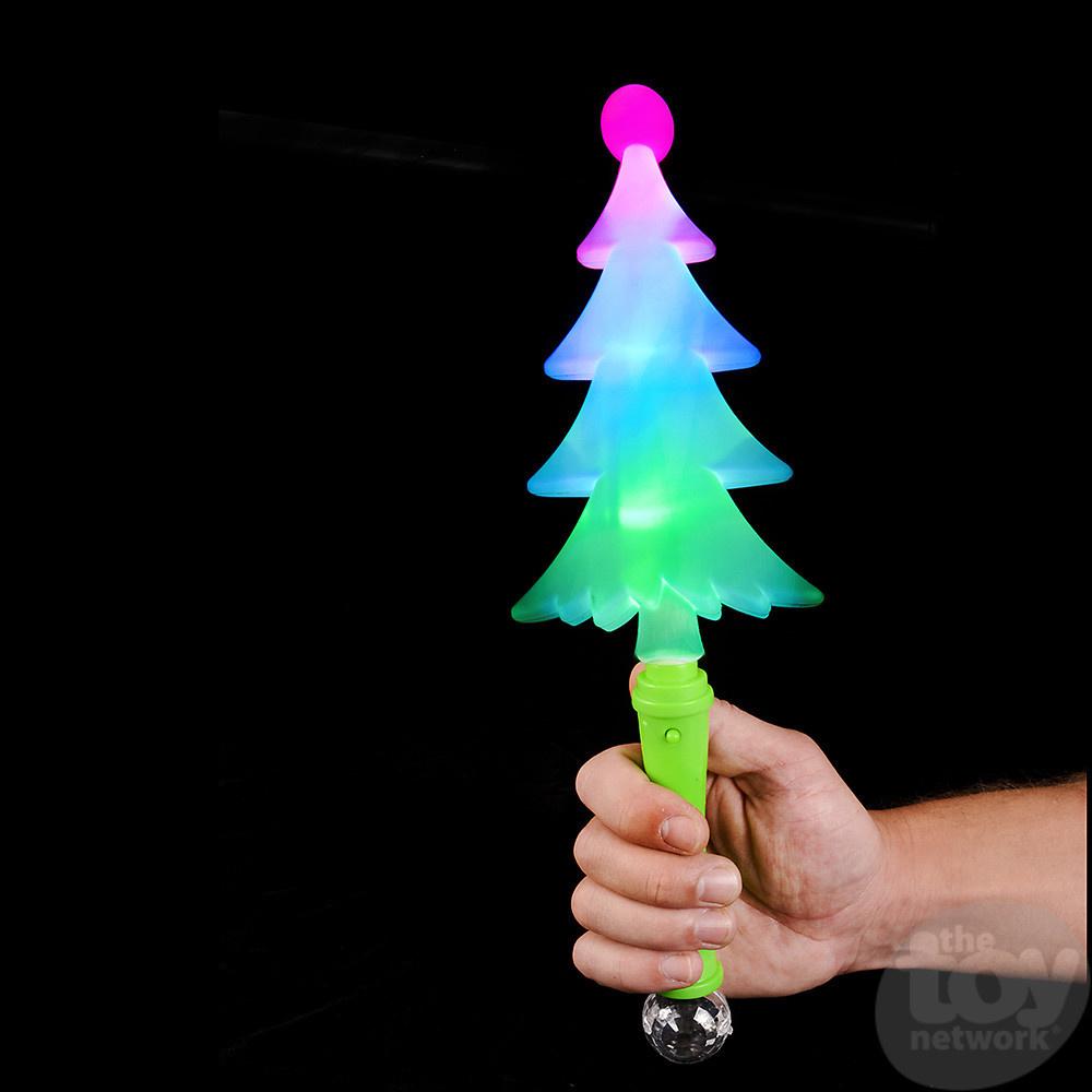 "The Toy Network 13"" FLASHING Christmas Tree Flash Light Wand"