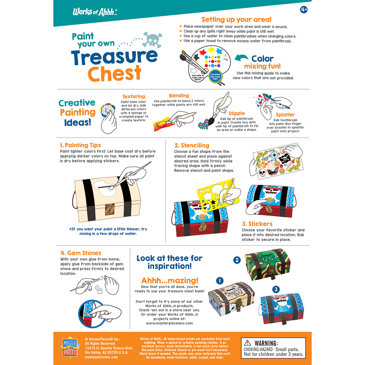 Masterpiece Treasure Chest - Paint Kit