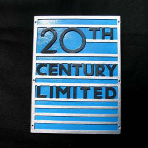 CUSTOM 26257	 - 	N.Y.C. 20TH CENTRAL OBSERVATION - Emblem Plate - COLOR VARIATIONS
