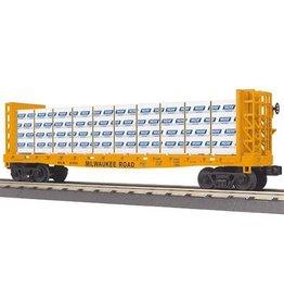 MTH - RailKing 3076451 - FLAT BULKHEAD W/LUMBER MILWAUKE