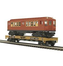 MTH - Premier 2098490 - Flat Car w/LoV Subway Car