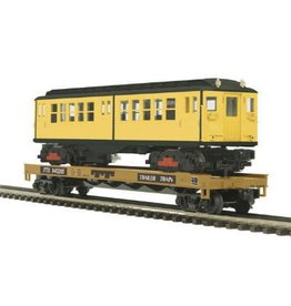 MTH - Premier 2098590	 - 	Flat Car w/LoV Subway Car